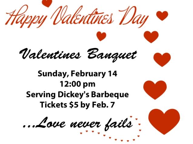 Valentine Banquet Poster